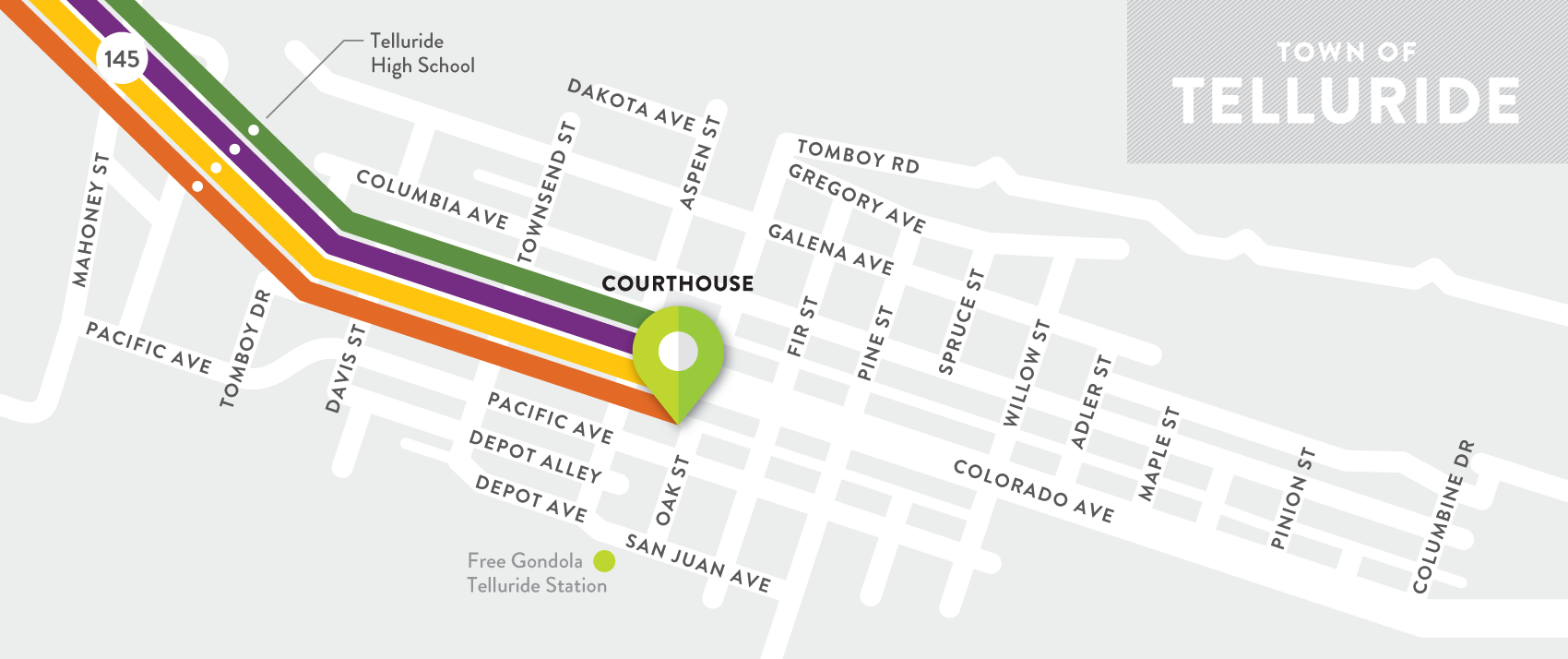 Map of the Town of Telluride